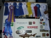 My first couple years of ribbons.